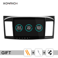 Xonrich Car DVD Player 2 Din For Mitsubishi Lancer X 9 Android 9.0 2008 2015 10.1 inch 3G/4G Audio Stereo GPS Radio Video WiFi
