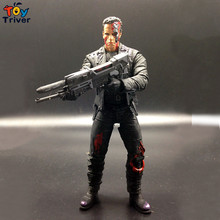 NECA Terminator T800 Schwarzenegger model Action figure gift free shipping 17cm Triver Toy