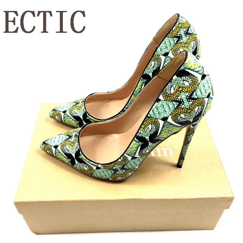 Brand Shoes Woman Snake Printed Women Shoes Sexy 12CM High Heels Pumps Pointed Ladies Party Wedding Shoes Women Pumps Stilettos new 2018 autumn shoes women pumps sexy graffiti high heels shoes fashion snake printed wedding party shoes big size 34 44