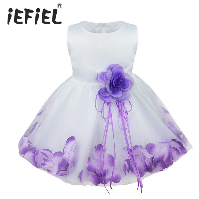 27b2c77cc iEFiEL Infant Baby Toddler Girls Flower Petals Wedding Bridesmaid Flower  Girl Formal Pageant Princess Party Dress