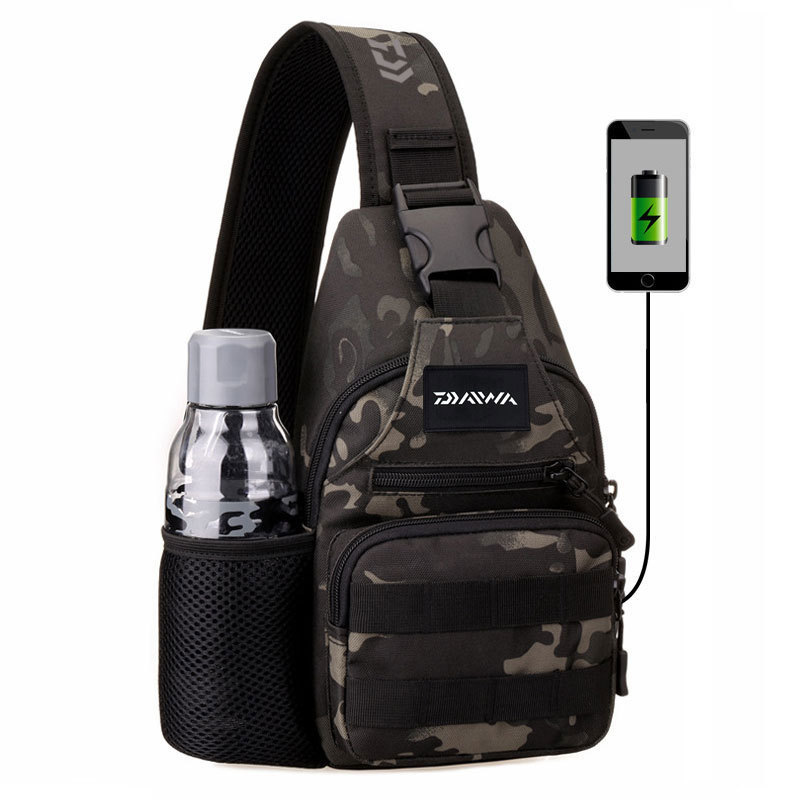 Security & Protection Humble New Daiwa Multi-functional Fishing Bag Portable Shoulder Bag Sports Chest Bag Fishing Gear Messenger Bag With Usb Charging Aromatic Flavor