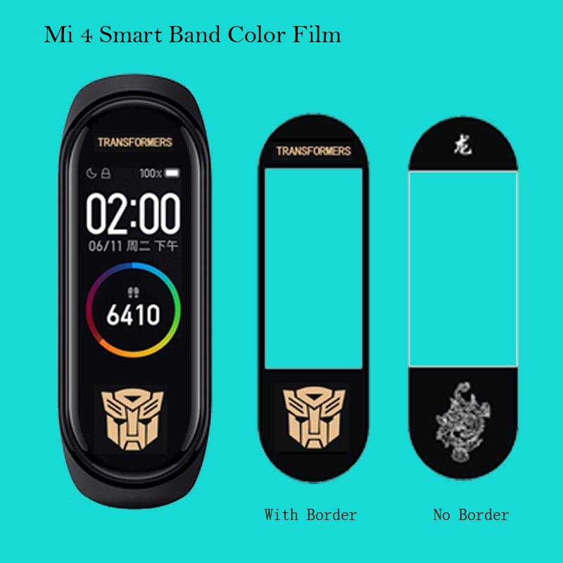3pcs Ultrathin Screen Protector Color Film For Xiaomi Mi Band 4 Wristband Bracelet Version Screen Protective For Miband 4