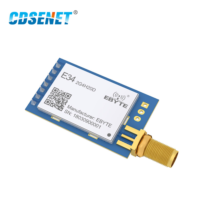 2,4 GHz nRF24L01 PA Largo alcance inalámbrico rf módulo CDSENET E34-2G4H20D 2500 m FEC 2,4g transmisor receptor nRF24L01P transceptor