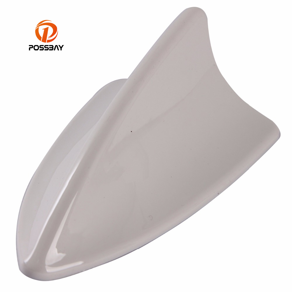 Universal POSSBAY ABS Automobile Car Antenna Style White Roof Aerial Decoration Fit Granta Solaris Corsa