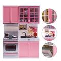 Rosa venta de cocina para niños divertido juguete pretend play cocinar cocina gabinete estufa set niñas juguetes toys kids toys online niños utensilios de cocina A676