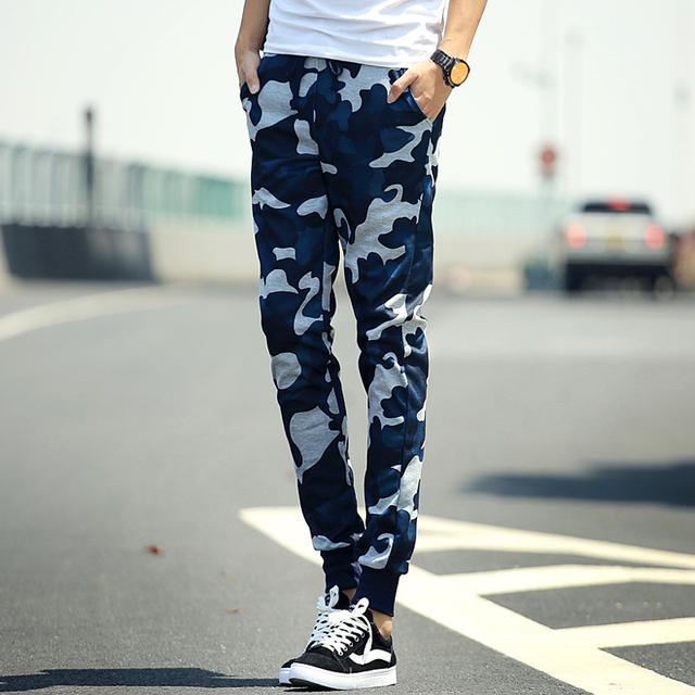 Pantalones harén Nuevo Estilo 2016 Mens Joggers Sweatpants Flacos Hombres Pantalones Ejército Militar Pantalones de Camuflaje Pantalones de Los Hombres