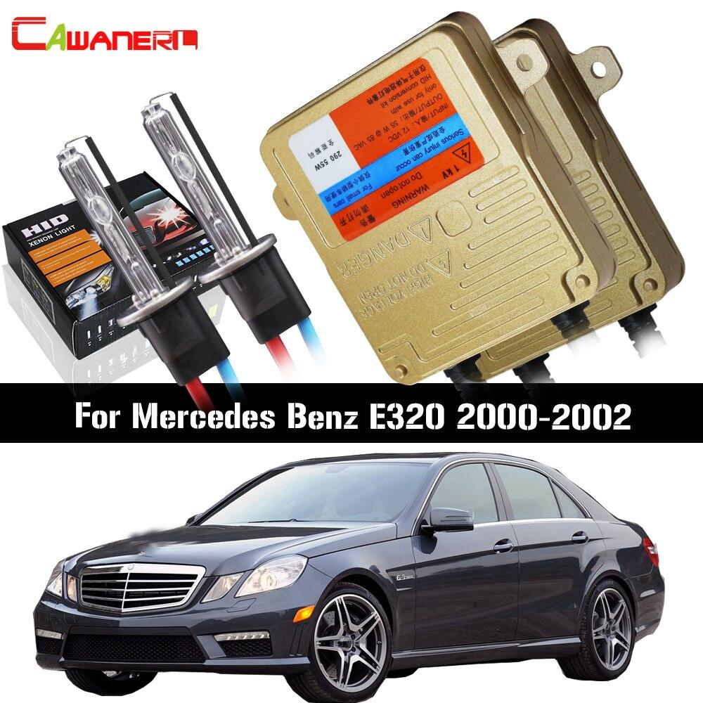 Cawanerl 55 W voiture HID Xenon Kit aucune erreur Ballast lampe AC 3000 K-8000 K phare feux de croisement pour Mercedes Benz W210 E320 2000-2002
