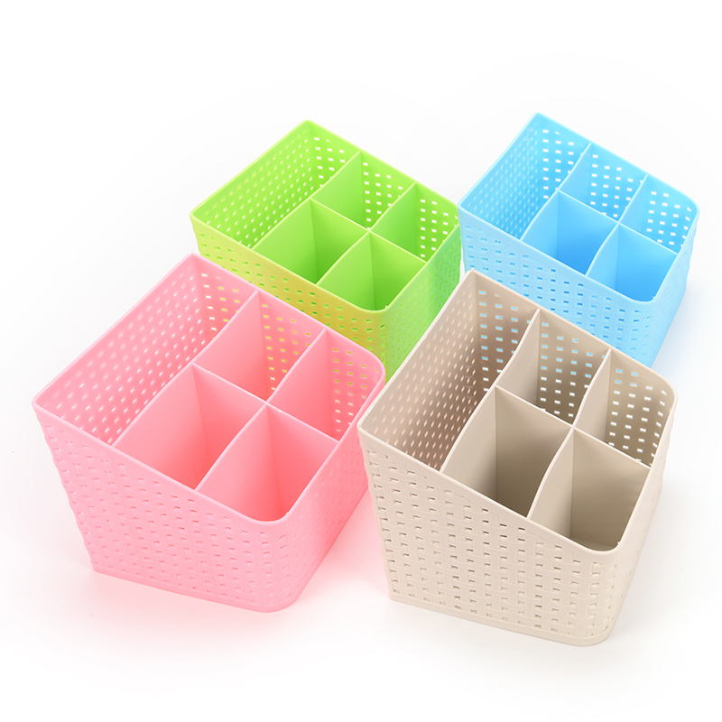 1pc Multi-grid Plastic Desktop Storage Box Container Cosmetic Case Container Makeup Organizer