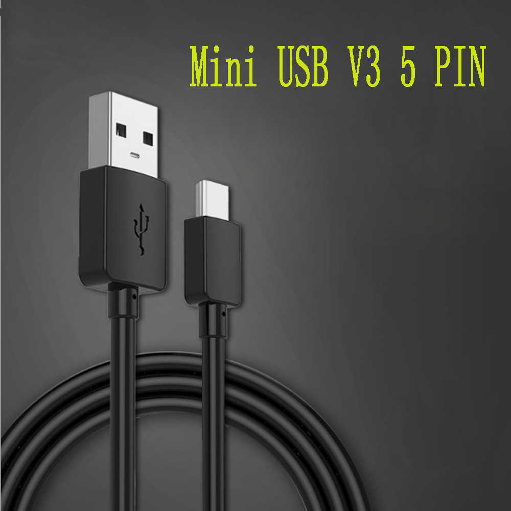 Mini USB 2.0 Male Ke USB V3 5 Pin 5 P Pengisian Kabel Charger Kabel Data Sinkronisasi untuk Digital kamera MP3 MP4