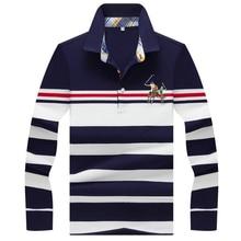 Sonbahar kış yeni polo GÖMLEK yüksek kaliteli marka pamuklu erkek polo GÖMLEK İş casual çizgili katı gömlek polo erkekler