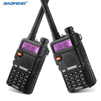 BAOFENG UV 5R Walkie Talkie Professional CB Radio Portable Walkie Talkie Transceiver 10 km VHF UHF Handheld UV For Hunting Radio
