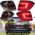 Highlander taillight,2008~2011;Free ship!LED,2pcs/set,highlander rear light;Black/Red color,highlander fog light