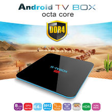 [Original] R-TV BOX PRO Android 7.1 2/3 GB RAM DDR4 16/32 GB Android Amlogic Tv Box KODI 17.1 BT4.0 S912 64bit Octacore Pk Xiaomi