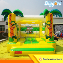 Jungle Inflatable Air Bouncer Trampoline Inflatable Small Bounce House For Sale
