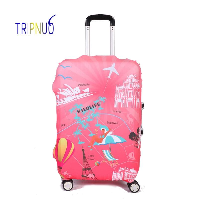 37388c239 TRIPNUO viaje para maleta de viaje de elasticidad equipaje fundas de protección  elástica accesorios de viaje Trolley caso cubierta - a.folklove.me