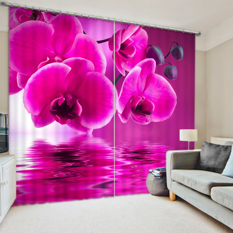 Beautiful flowers digital photo 3d emulation print shade fabric curtains finishedBeautiful flowers digital photo 3d emulation print shade fabric curtains finished