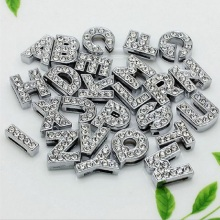 A-Z, 8 мм, стразы, кулон, буквы, подходят для DIY, подарок, шарм, кожаный браслет, браслет, пояс, ожерелье, ювелирные аксессуары