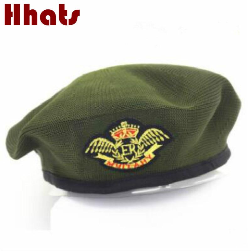 Qui dans la douche Parentales tricoté chapeau militaire badge casquette de marin costume de partie de partie stade capitaine chapeau bérets femmes Peintre chapeau
