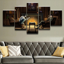 Modern Canvas Painting HD Printed Wall Art Frame Modular Picture Living Room Decor 5 Pieces Death Note Lelouch Lamperouge Poster