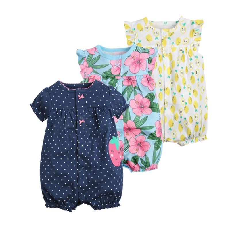 2018 orangemom赤ちゃん女の子服オールインワンジャンプスーツ赤ちゃん服、コットンショートロンパース幼児女の子服roupas menina