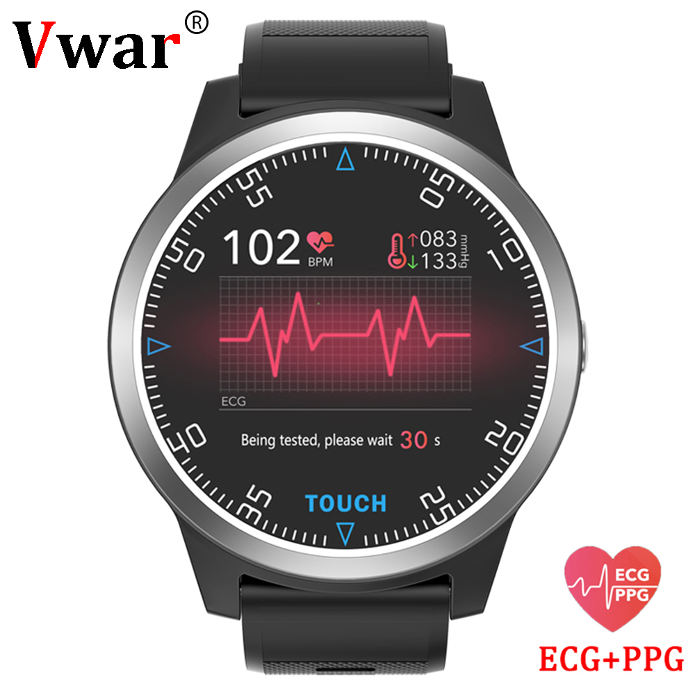Vwar Smart Watch ECG PPG Heart Rate Monitor Blood Pressure Bluetooth Smartwatch Sport Fitness Tracker Watch