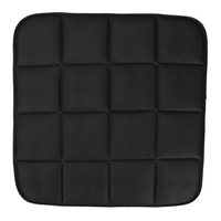 42x42 cm במבוק פחם כרית מושב מכונית לנשימה (שחור)