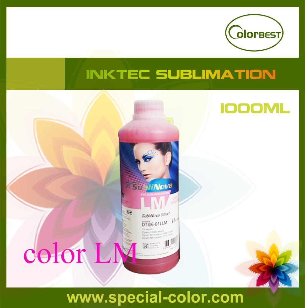 Color LM Korea Sublimation Ink Inktec SubliNova Bottle Ink for Roland/Mimaki/Mutoh/Epson 1000ml x 4color textile pigment ink in bottle for roland mimaki mutoh printer