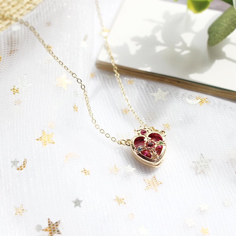 10 styles Japanese Cartoon Comics Series Sailor Moon Pendant Necklace For Cosplay Women Girls Gifts