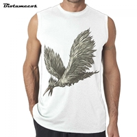 2017 Summer Vest Bodybuilding Clothing Men Tank Tops Fashion Cotton Brand Sleeveless Undershirts The Eagle Fly