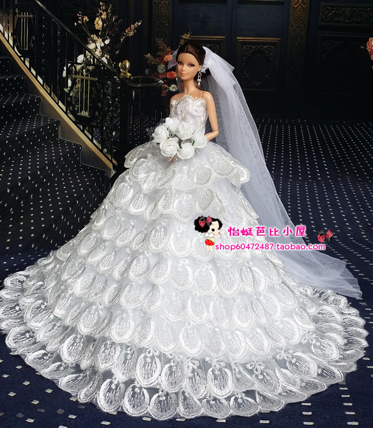 Original Princess For Barbie Doll Clothes Set Wedding Dress Six Points Dream Snow White Free Shipping In Dolls Accessories From Toys