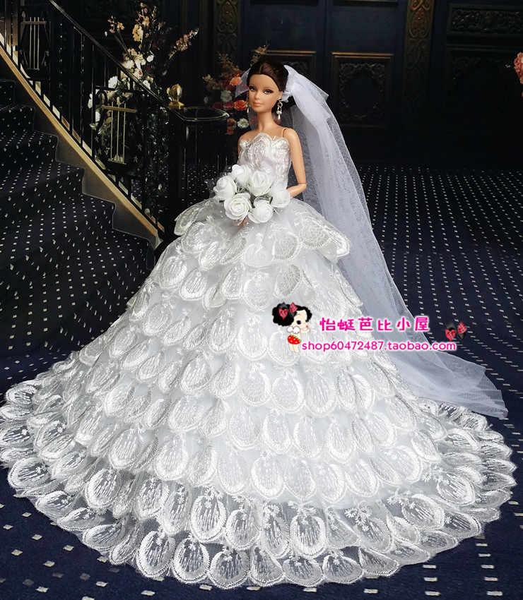 ... original princess for barbie doll clothes set wedding dress six points  dream wedding clothes Snow White ... 47547fed2e74