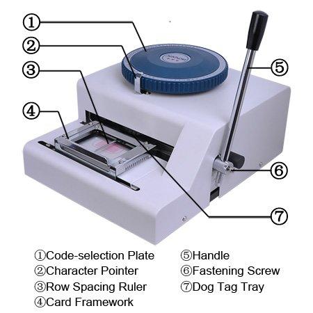 Гарантия 100% новый 52 символов ручной металлический собака опресовщик кабеля тиснения машина, для стального тиснения машина