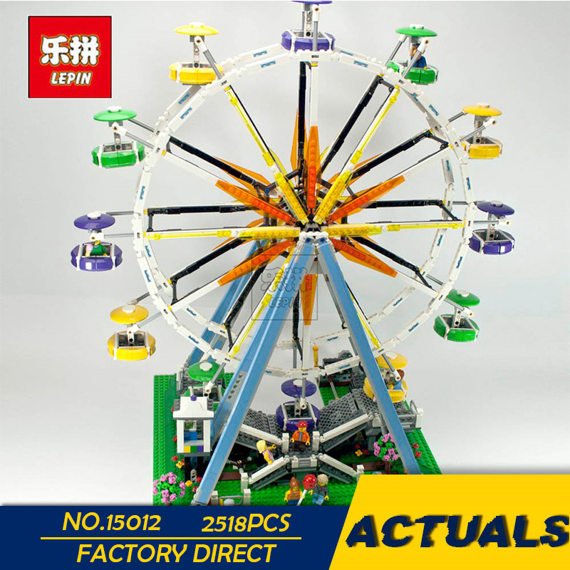 LEPIN 15012 2478Pcs City Expert Ferris Wheel Model Building Kits Blocks Bricks Toys Compatible with 10247 lepin 15012 2478pcs city series expert ferris wheel model building kits blocks bricks lepins toy gift clone 10247