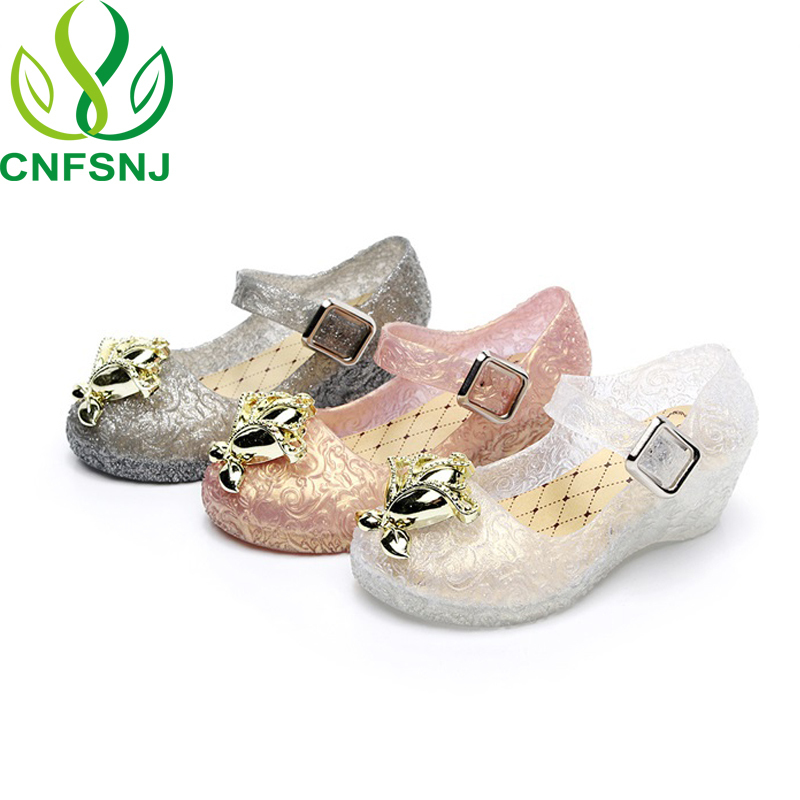 CNFSNJ brand 2018 New Spring Summer Mini Jelly Sandals Rainbow Unicorn Fish  Mouth Lovely Soft Princess Teapot Cup Shoes 24 29-in Sandals from Mother    Kids ... df0b9bd3d043