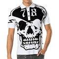 Правда гуляка мужчины черепа polo рубашка люксовый бренд одежды с коротким рукавом моды и случайные polo рубашка Азии размер 5612