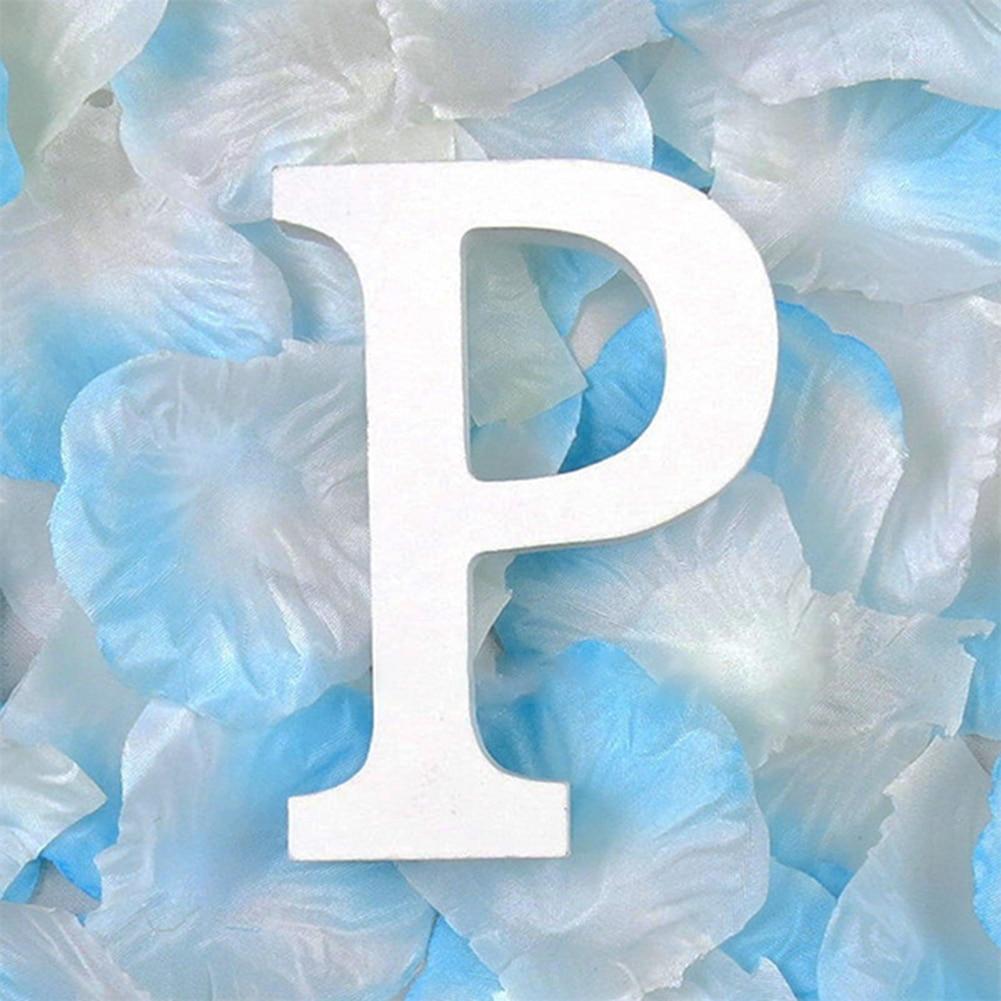 3D деревянные буквы letras decorativas персонализированное Имя Дизайн Искусство ремесло деревянные украшения letras de madera houten буквы - Цвет: P