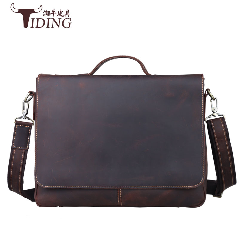 Messenger Bag Leather Men Bags Genuine Leather Bag Big Shoulder Crossbody Bags Casual Laptop Handbag Business Briefcase Bags vintage crossbody bag military canvas shoulder bags men messenger bag men casual handbag tote business briefcase for computer