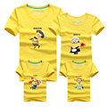 1 Piece Cartoon Family LooK t shirt camisetas despicable me minions clothes matching father son mother daughter clothes