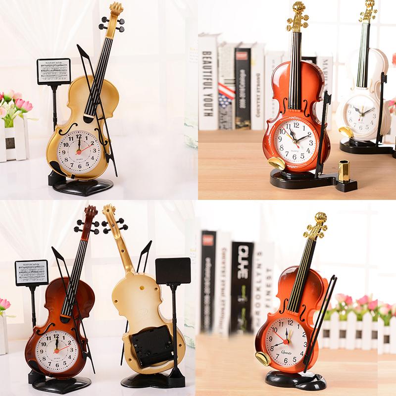 violn creativo moderno cuarzo analgico reloj despertador escritorio decoracin grandes regalos para los nios o los