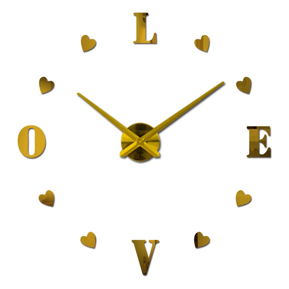Special Clock Creative Diy Mirror Wall Clock Wall Stickers Fashion Personality Living Room Special Clock 3d Stickers For Home Decor