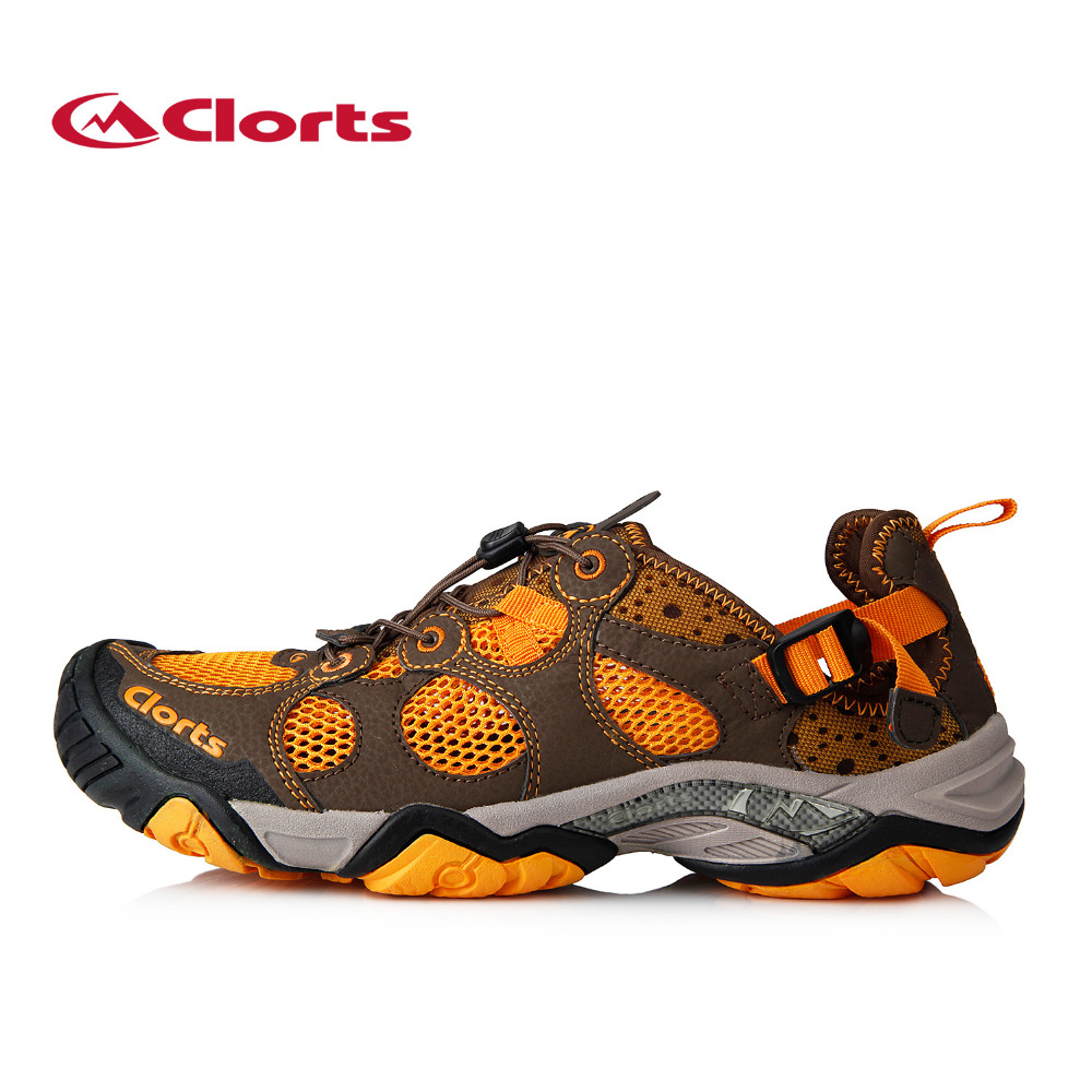 ФОТО 2016 Clorts Aqua Shoes for Men 3H021A/B Summer Quick-drying Mesh Water Sandals Upstream Water Shoes