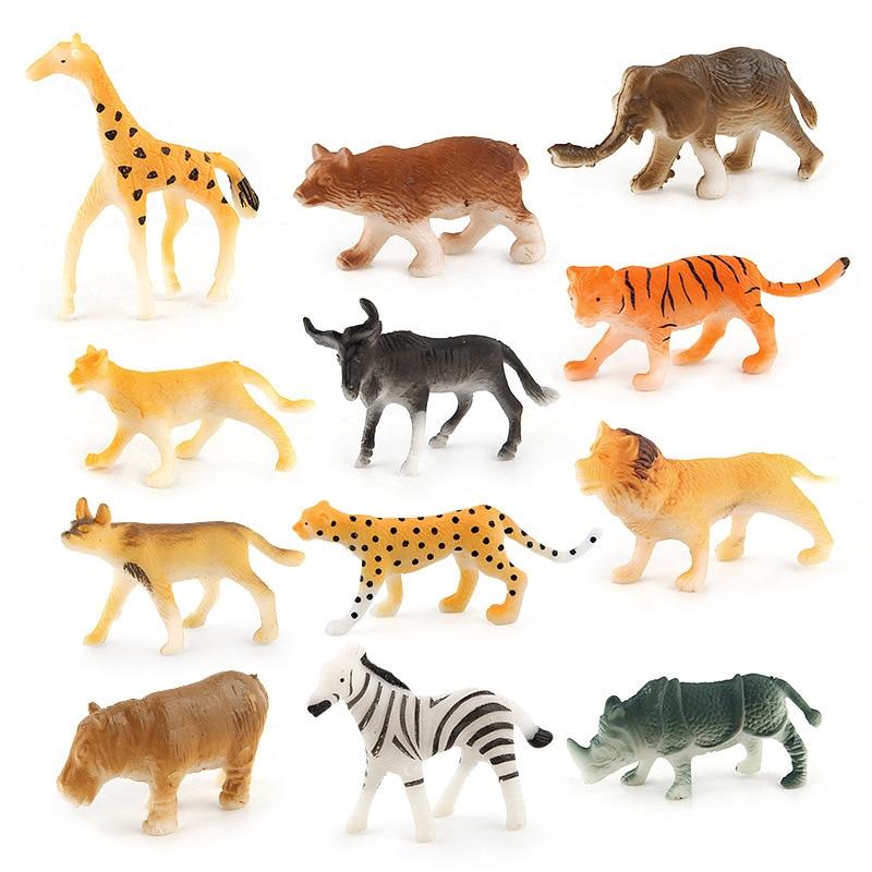 12 Categories Animal World Simulation Animal Model Doll Toy Soft ...