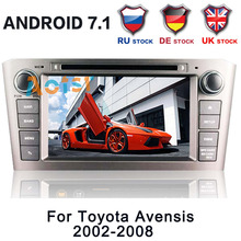 7″ 2 Din 8 CORE Android8.0 Car DVD Player Stereo GPS Navigation Radio For Toyota Avensis T250 2002 2003 2004 2005 2006 2007 2008