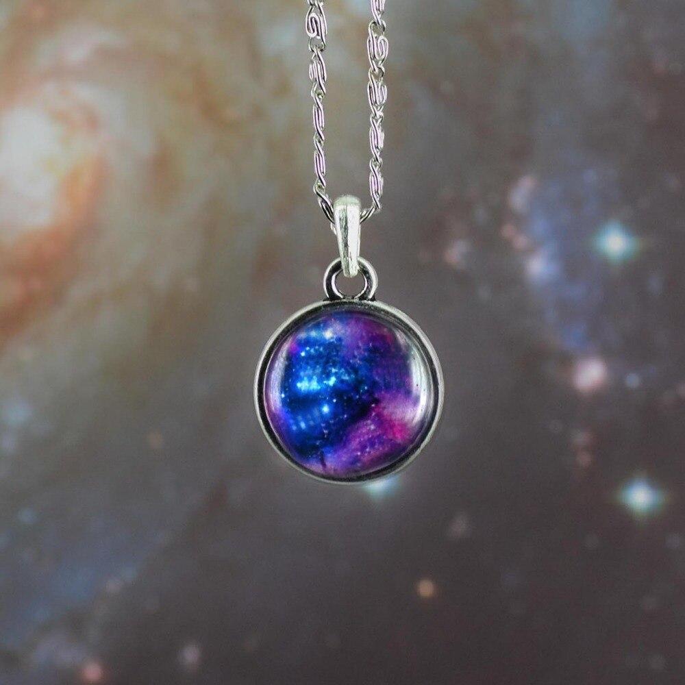 free shipping new fashion necklace star series galaxy duplex glass