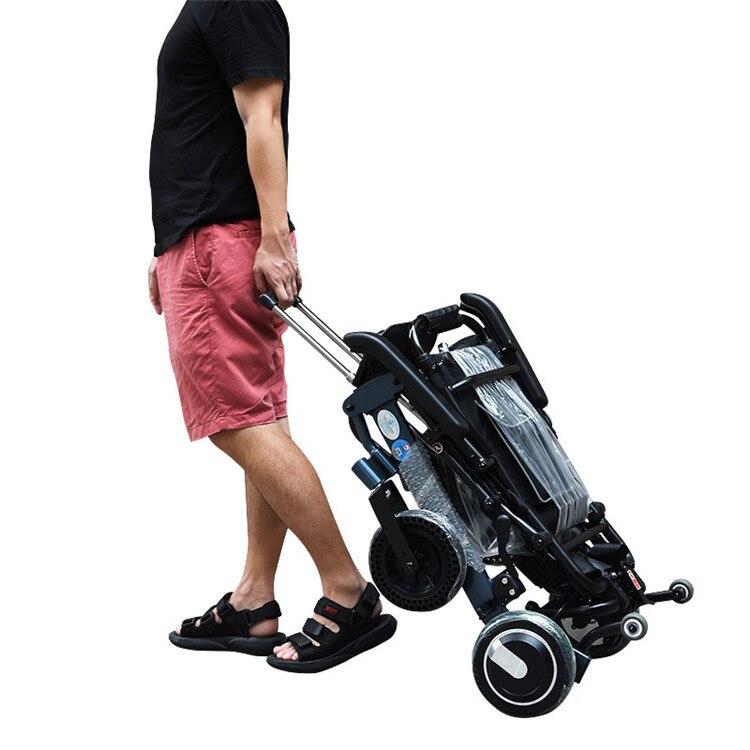 Cadeira de rodas elétrica idosa portátil motorizada