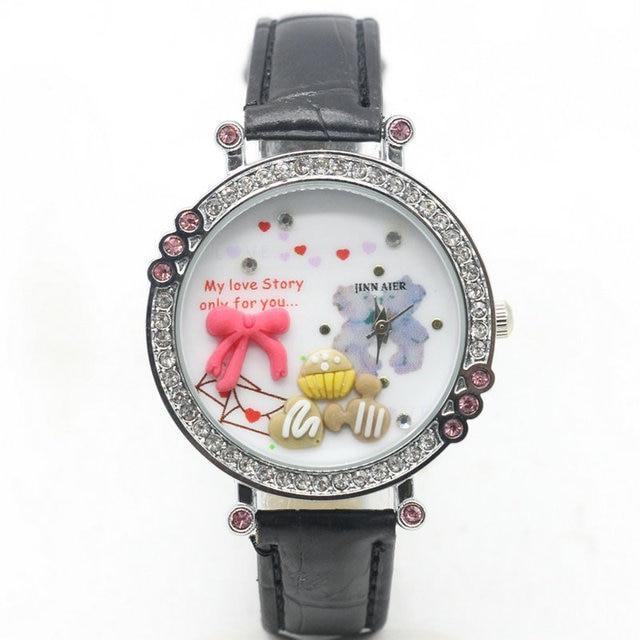 2018 del nuovo polimero mini orso studenti diamond girl orologi moda orologi regalo della vigilanza Europea