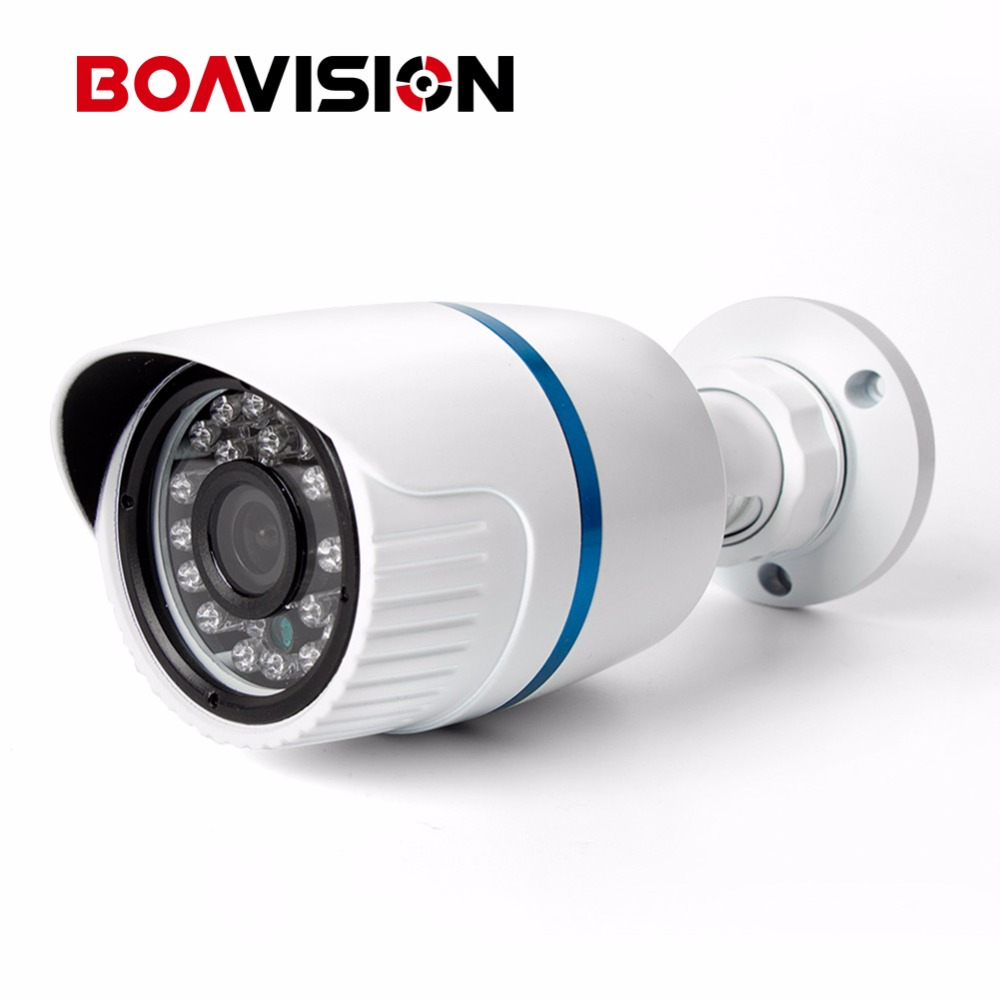 720P Bullet IP Camera PoE Outdoor Waterproof IR-Cut Mobile Phone P2P Coud View HD 1.0MP Network Camera Securiy Onvif XMEye outdoor waterproof white metal case 1080p bullet poe ip camera with ir led for day