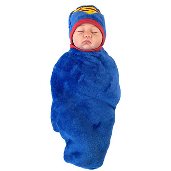 Newborn Bathrobe Superman Batman Baby Blanket Child Hooded Bathrobe Child Newborn Bath Towel Soft Fabric 1