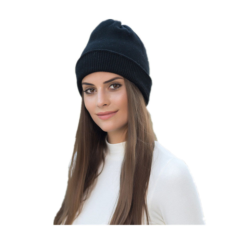 Men's Hats Womens Mens Winter Wool Knitted Hat Unisex Beanie Striped Gorro Plain Couples Bonnet Muts Cappello Warm Winter Cap A1 Pretty And Colorful Men's Skullies & Beanies