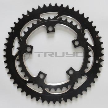 Chainwheel BCD110 56 T 53 T 52 T 50 T 48 T 46 T 44 T 39 T 38 T 36 T 34 T Chainring จักรยานพับจักรยานห่วงโซ่ CNC สำหรับ Dual Disc